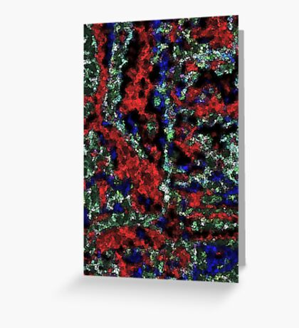 Electric squared Red, Blue, Green Greeting Card