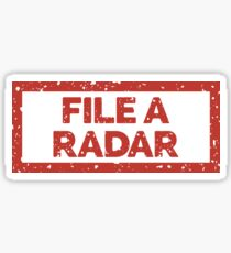 File a Radar Sticker