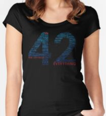 Life, The Universe, and Everything- Hitchhiker's Guide to the Galaxy Women's Fitted Scoop T-Shirt