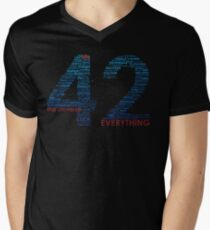 Life, The Universe, and Everything- Hitchhiker's Guide to the Galaxy Men's V-Neck T-Shirt