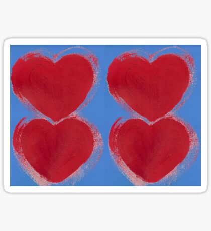 Painted Hearts Sticker