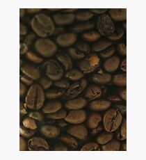 Coffee Beans, Pattern, Macro Photo - fine art - still life - interior decoration, for bar & restaurant, n° 2 Photographic Print