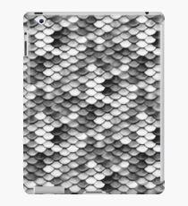 Meerjungfrau in Schwarz Weiß iPad Case/Skin