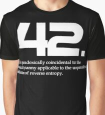 The meaning of life is 42 - Hitchhiker's Guide to the Galaxy Graphic T-Shirt