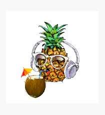 Pineapple Tropical Party Photographic Print