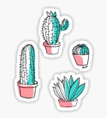 Colorful cactus Sticker