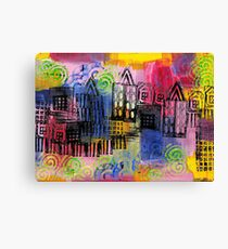Psychedelic City 3 Canvas Print