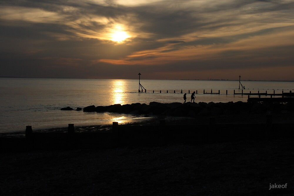Sun Set From Selsey  by jakeof
