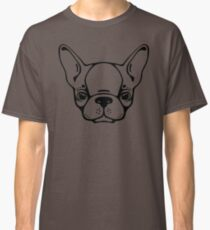 French bulldog head isolated Classic T-Shirt
