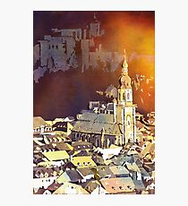 Heidelberg Church, Germany.  Watercolor painting Photographic Print