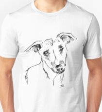 Whippet Drawing Unisex T-Shirt