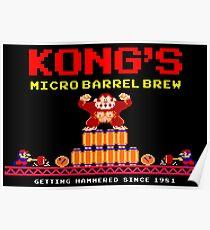 Donkey Kong's Micro Barrel Brew Poster
