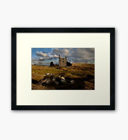 Abandoned Mine Building - Bodmin Moor Framed Print