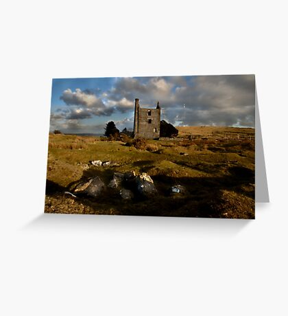Abandoned Mine Building - Bodmin Moor Greeting Card
