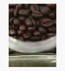 Coffee Beans, Pattern, Macro Photo - fine art - still life - interior decoration, for bar & restaurant, n° 3 Photographic Print