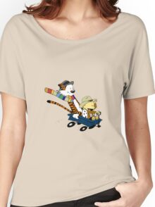 calvin and hobbes meets tardis go Women's Relaxed Fit T-Shirt