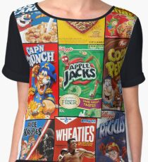 Cereals Boxes Chiffon Top