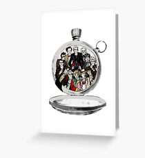 The clock strikes 12 Greeting Card
