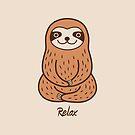 Cute Little Sloth by Zoe Lathey