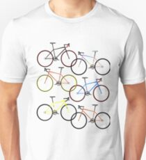 Road bikes multi coloured T-Shirt