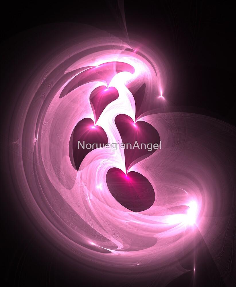 Pink Hearts by NorwegianAngel