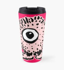 Cute Cartoon Pink Monster T-Shirt by Cheerful Madness!! Travel Mug