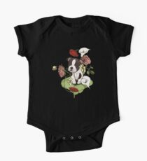 Boston Terrier Puppy Bouquet One Piece - Short Sleeve