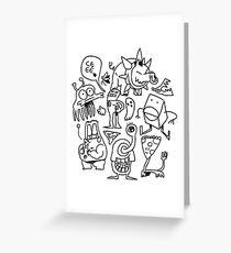 doodle dumb Greeting Card