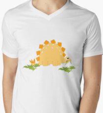 Cute dino Men's V-Neck T-Shirt