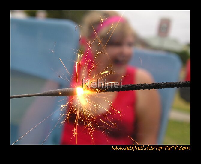 Sparklers Are Such Fun by Nehinei