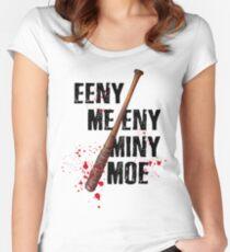 The Walking Dead - EENY MEENY MINY MOE  Women's Fitted Scoop T-Shirt