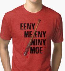 The Walking Dead - EENY MEENY MINY MOE  Tri-blend T-Shirt