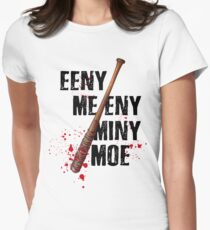 The Walking Dead - EENY MEENY MINY MOE  Womens Fitted T-Shirt