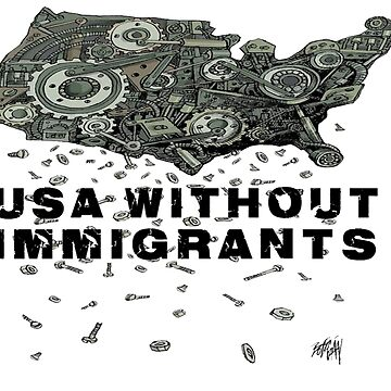 USA without Immigrants T-Shirt by crazyforshoppin