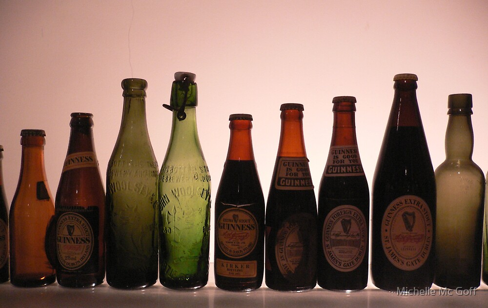 Guinness Bottles by Michelle Mc Goff