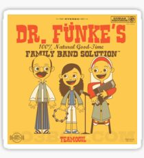 Dr. Funke's Family Band Sticker