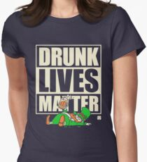 St. Patrick's Day Drunk Lives Matter Womens Fitted T-Shirt