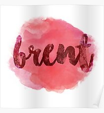BRENT Red Poster