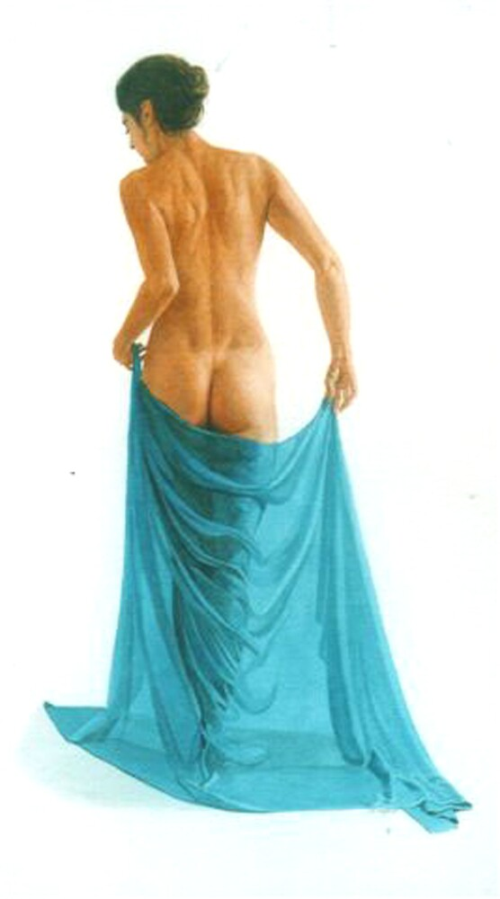 The turquoise sarong by Freda Surgenor
