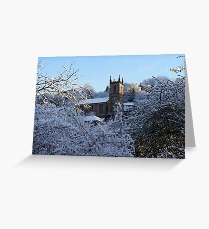 Ironbridge Church in Spring Snow   Greeting Card