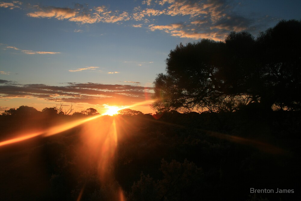 Sunset in the outback by Brenton James