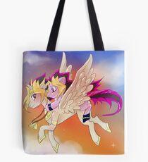 Yu-Gi-Oh!+My little pony sunset Tote Bag