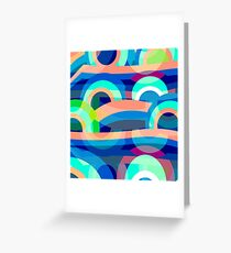 Marine abstraction Greeting Card