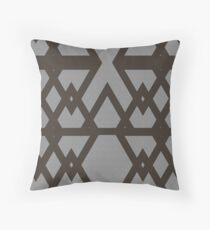 Triangle and Diamond Gray pattern Throw Pillow