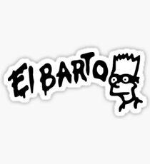 The Simpsons El Barto Graffiti Sticker