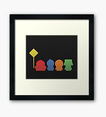 Minimalistic South Park Framed Print