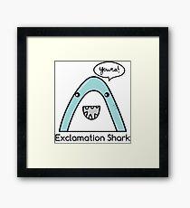 Exclamation Shark Framed Print