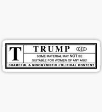 women against trump warning label Sticker