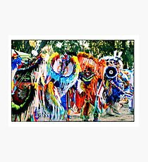 Young Fancy Dancers in Motion Photographic Print