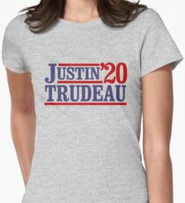 Justin Trudeau '20 Womens Fitted T-Shirt